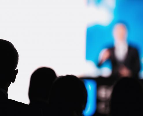 Neon Blue ITNation Conference Shot