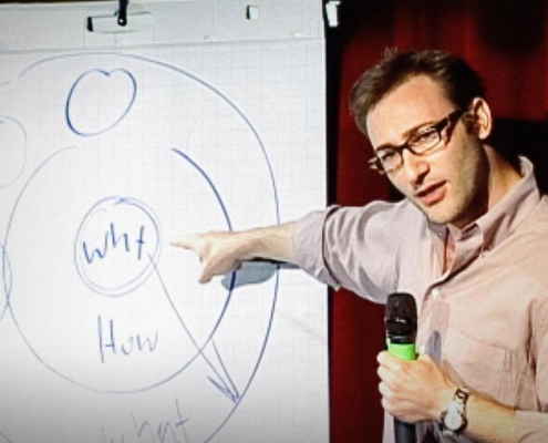 Neon Blue Impact of Branding on Business Consider Simon Sinek's Why