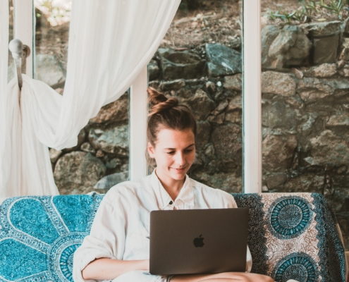 Neon Blue Stages of Entrepreneurship Entrepreneur Life